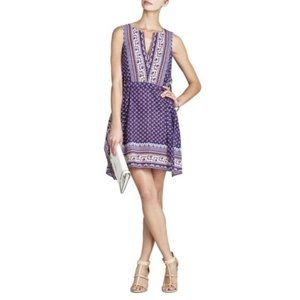 BCBGMaxAzria Alexi Boho Kaftan Dress Purple XS